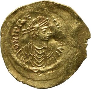 DIONYSOS Mauricius Tiberius AV-Semissis Constantinopel Victoria #MK 1564