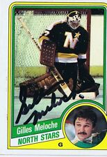 Gilles Meloche 1984 Topps Autograph #79 North Stars