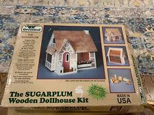 Greenleaf The Sugarplum Wooden Cottage Dollhouse Kit Vintage
