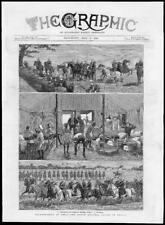 1880-antica stampa India VOLONTARIATO BAHAR FUCILI BENGALA Cavalli Tatuaggio (165)