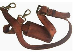 """48""""Long Replacement Bag Strap Brown Leather Shoulder Strap For Leather Bag"""