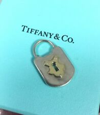 Tiffany & Co. Hammered Vintage Lock Charm Pendant 18k Gold Key Silver 925