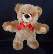 "12"" STEIFF BOBBY TAN / BROWN TEDDY BEAR STUFFED ANIMAL PLUSH TOY GOLD # 021930"