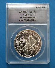 2010 AUSTRIA 1oz. Silver Philharmonic - ANACS MS70