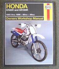 Haynes Manual Honda Xr Crf Xr50 Xr70 Xr80 Xr100 Crf50 crf70 Crf80 Crf100 1985-07