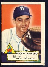 1952 Topps Mickey Grasso #90 VG (Red Back)