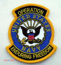 OPERATION ENDURING FREEDOM OEF PATCH US NAVY VETERAN USN EAGLE PIN UP GIFT USS