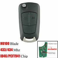 Car Remote Key For Opel Astra H Zafira B 2005-2010 433Mhz PCF7941 Chip New
