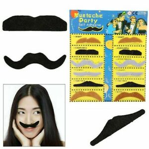 PACK OF 12 FAKE MOUSTACHE STICK-ON TASH MUSTACHE FANCY DRESS MEXICAN ACCESSORY