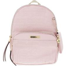 Juicy Couture Womens Word Play Pink Faux Leather Logo Backpack Medium BHFO 8137