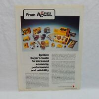 ACCEL IGNITION PARTS VINTAGE 1975 ADVERTISING MAGAZINE AD