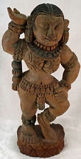 Antique Ganga Devi Goddess Statue Hindu Temple Wooden Hand Carved Sculpture