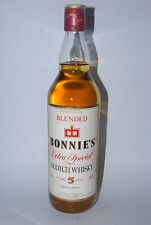 WHISKY BONNIE´S EXTRA SPECIAL BLENDED SCOTCH WHISKY 5 YEARS OLD AÑOS 70 75cl.