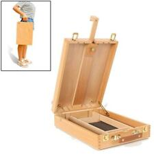 Artwork Wooden Artist's Painting & Drawing Table Top Desk Box Easel with Storage
