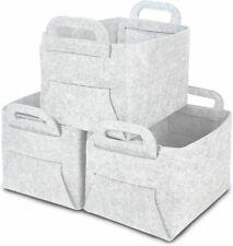 New ListingFabric Storage Cubes 4 Pack Foldable Closet Bins Baskets Organizer Boxes Gray