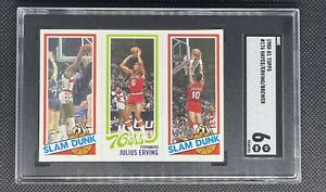 1980 Topps Basketball #181 Julius Erving, Elvin Hayes, Ron Brewer - SGC 6