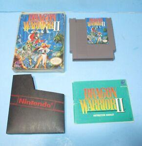 Nintendo Dragon Warrior II 1990 NES Video Game Cartridge, Box & Manual TESTED!!