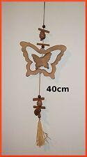 guirlande avec papillons ,décoration murale en bois brut, 40 cm de long   GT5