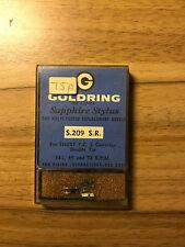 VINTAGE GOLDRING S.209 SR REPLACEMENT SAPPHIRE STYLUS FOR SHURE P.C. 2 CARTRIDGE