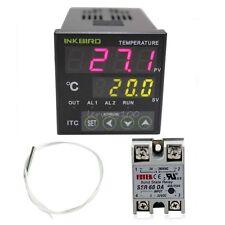12V PID Digital Temperature Temp Controller Thermostat + 60DA SSR + PT100 Sensor