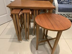 Nest Of Tables With 4 Folding Tables 24x16cm 23cm Tall