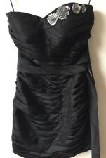 Gorgeous Rith Travydas Black Ruched Dress Size 8