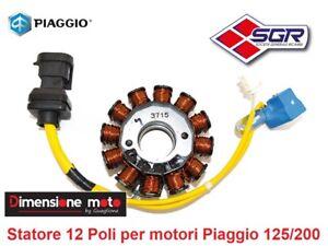 """8021 - Statore """"SGR"""" Completo 12-Poli per PIAGGIO Vespa LXV 125 dal 2006 > 2009"""