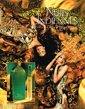 PUBLICITE ADVERTISING 085  1996  NUITS INDIENNES parfum  JEAN LOUIS SCHERRER