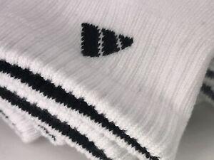 Men's ADIDAS Socks, White Athletic Quarter Quarter Crew, 6 PACK, $36 MSRP ⛳️🎒