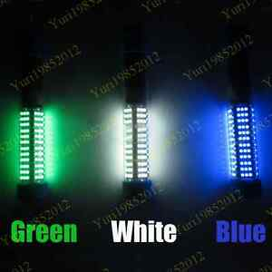 Upgraded 12V GBW 1080LM LED Underwater Squid Lure Boat Fish Light Fishing Lamp