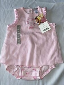 NWT Carter's 1 piece sunsuit, Sz 6 Mos, pink little rose