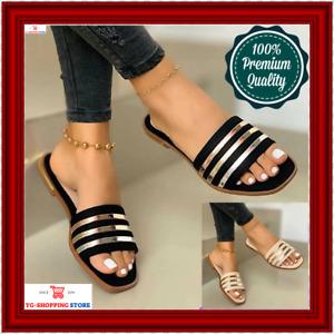 Sandalias De Mujer Moda Gladiador De Punta Abierta Casual Zapatos Planos Verano