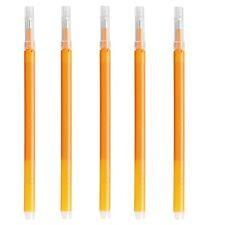 F/S MUJI JAPAN Ballpoint pen Orange 0.5mm that rubbing erasable Refill x 5 set