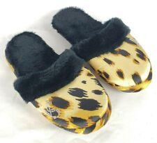 Victoria's Secret Hausschuhe Groß L 8-9 Gepard Leopard Schwarz Braune Fleece