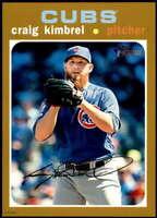 Craig Kimbrel 2020 Topps Heritage 5x7 Gold #194 /10 Cubs