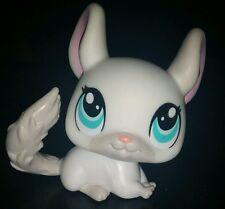 Littlest Pet Shop White Grey Gray Blue Eyes Chinchilla #1401 LPS