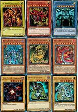Egyptian 9 Gods Set: Slifer SKy, Obelisk, Winged + Uria Raviel Hamon + Blue-Eyes