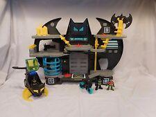 Imaginext Batcave Playset DC Super Friends Batman Bat Cave Batcopter Helicopter