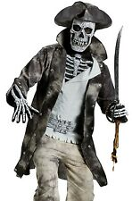 Ghost Pirate Costume Adult Mens Deluxe Horror Caribbean Skeleton - Fast Ship -