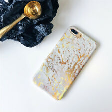 Granite Marble Shockproof Hard PC Shell Case Phone Cover For iPhone 6 7 8 Plus