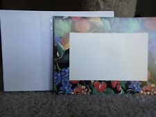 Set of 24 blank Garden Party Invitations note or recipe cards Fruit Vegetables