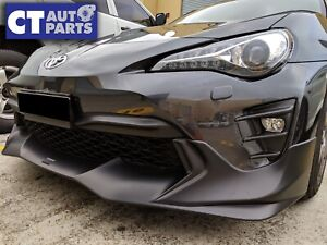 TRD V2 Style ABS Front Bumper Lip For MY17-19 Toyota 86 GT GTS  (UNPAINTED)