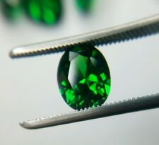 Emerald Green Cubic Zirconia 9 x 7mm Oval Loose Gemstone AAAAA lot of 2 stones