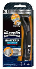 Wilkinson SWORD QUATTRO TITANIUM precisión Maquinilla De Afeitar, Afeitadora Barba Trimmer & borde