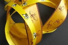 Gold & Yellow Bee Ribbon. 3 metres of each design
