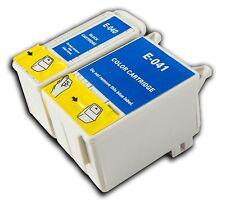 2 T040/41 CARTUCHO DE TINTA NO OEM para la impresora Epson Stylus Photo C62 CX3200 CX3250