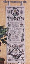 Rosewood Manor FLOWERS IN THE CRANNIED WALL Cross Stitch Chart/Leaflet sampler