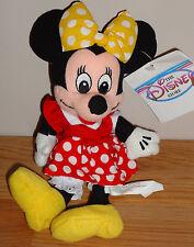 """Disney MINNIE MOUSE 8"""" beanbag plush w/Tag NEW! w/yellow polka dot  bow"""