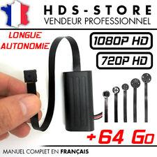 MODULE CAMERA BOUTON ESPION FULL HD 1080P + MICRO SD 64 GO DÉTECTION VIDÉO 720P