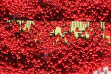 11/0 Old Time Vintage Venetian Opaque Dark Red #2 Seed Beads/1oz